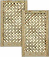 Gittertür Holztür natur 69 x 39,4 cm Schranktür