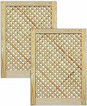 Gittertür Holztür natur 69 x 49,4 cm Schranktür