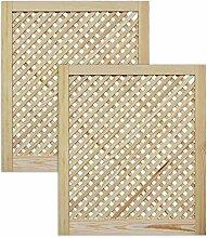 Gittertür Holztür natur 69 x 59,4 cm Schranktür