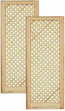 Gittertür Holztür natur 99,3 x 39,4 cm