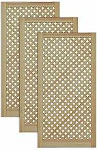 Gittertür Holztür natur 99,3 x 49,4 cm