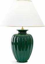 Giulia Luce Tischlampe grün,Handgefertigt in