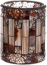 GiveU Mosaikglas flammenlose Kerze Traditionell
