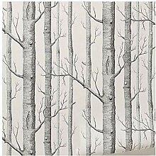 Giytoo Wandtapete mit Birkenbaum, modernes Deko,