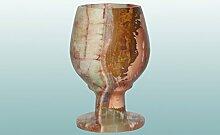 GJ Exclusive - Dekorative Glässer aus Onyx | 4 Größen wählbar | verschiedene Bänderungen | Naturstein Onyx - Marmor Onyxglas Schnapsglas Likörglas Weinglas Sherryglas Schwenker (7 x 4 cm)