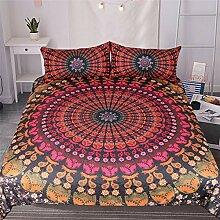 GJC Bettwäsche Dreiteilige Doppelbett Bettbezug