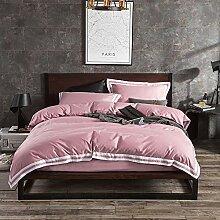 GJC Bettwäsche Vierteilige Moderne Einfache Twill