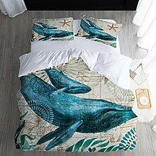 GJC Ocean 3D Druck Dreiteilige Bettwäsche Set