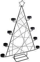 GJFF Eisen Weihnachtsbaum Kerze Halter Moderne