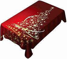 Gjiegengi Outdoor-Tischdecken140X180cm Weihnachten