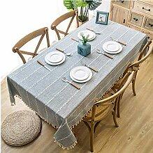 Gjiegengi Tischdecken 140x220cm solide dekorative