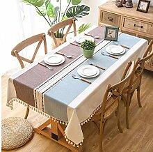 Gjiegengi Tischdecken Plaid Dekorative Leinen