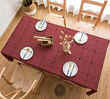 Gjiegengi Tischdecken Plaid Solide Dekorative