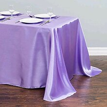 Gjiegengi Tischdecken Satin Rechteck Tischdecke