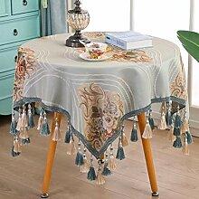 Gjiegengi Tischdecken Tischdecke Gestickte