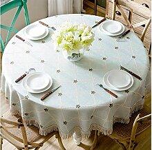 Gjiegengi Tischdecken Tischdecke Runde Tischdecke