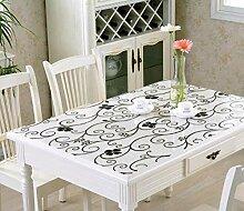 Gjiegengi Tischdecken Tischdecke Weichglas PVC