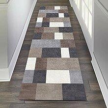 GJIF Läufer Teppich Flur Modern Geometrisch,