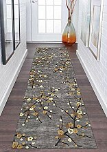 GJIF Läufer Teppich Flur rutschfest Modern,