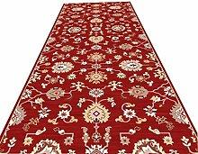GJIF Roter Läufer-Teppich für Flure