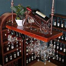 GJSN Weinregal, Bronze Hängende Flaschenglas Und