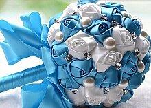 GJX Hochzeitssträuße, handgemachte künstliche