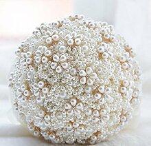 GJX Künstliche Blume Seidenblume Kristall Rose