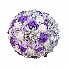 GJX Künstliche Seide Blume Hochzeit Brautstrauß