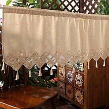 GJXY Cafe Vorhänge Fenstervorhang Küche Halber