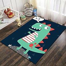 GJXY Kinderteppich Jungen Dinosaurier Teppich,