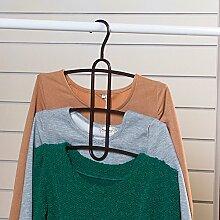 GJY Mehrschichtige Mehrzweck Magic Kleiderbügel / Kleiderhaken / Slip Kleiderbügel-B,A