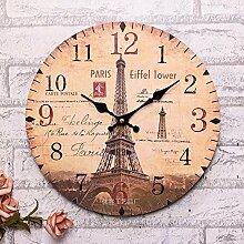 GK-Kreative Clock Deutsch Wanduhr stilvoll kreative Uhr personalisierte Durchmesser 33 cm