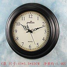 GK-Kreative Wanduhr Wohnzimmer mit antiken Uhren Uhr Kontinentales mute C eingerichte