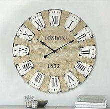 GK-Massivholz Amerikanischen dekoriert Wanduhr Holz- Wohnzimmer Wand große Wanduhr mute Quarzuhr Rom der Uhren Durchmesser 70 cm