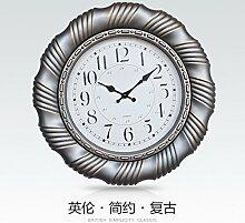 GK-Personalisierte große Wanduhr im kontinentalen Stil 16 Zoll Rundmaterial Glasscheibe, und der Stil ist D