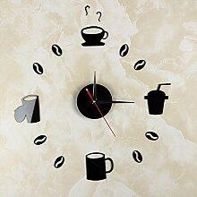 GK-Wanduhr Schlafzimmer diy Wanduhr Acrylglas Wandbehang, 35 X 35 CM, schwarz