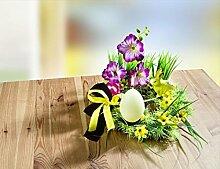 GKA Blumengesteck mit Ostereier-Kerze Ostern