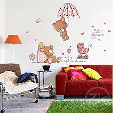 GKAWHH Sticker Niedlichen Bären Wandaufkleber