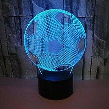 GKKXUE 3D Nachtlichter. Fußball für Kinder,