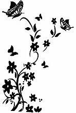 GKLCEF Wandaufkleber Schmetterlinge Kühlschrank
