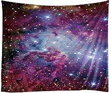 GKLKU Tapisserie Gedruckt Polyester Sterne Nebel