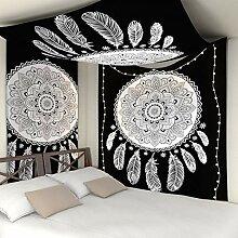 GKLKU Teppich-Wandbehang-Tapisserie für