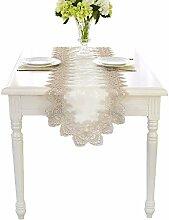 GKLKU Tischset Stickerei Tischläufer Hochzeit