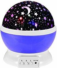 GKPLY Nachtlichter Für Kinder, Nachtbeleuchtung Lampe, Multi Farben Star Projektor, Rotation Für Kinder und Baby Schlafzimmer, Beste Nachtlicht, Um Kinder Viel Phantasie Zu Stimulieren,Darkblue