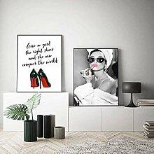 GKZJ Leinwanddrucke Bild Audrey Hepburn Porträt