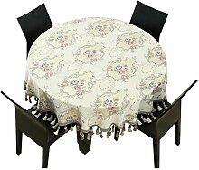 GL Europäische Runde Tischdecke, Hochzeit Tisch