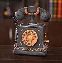 GL&G Amerikanisches Harz Dekoration kreative Modell Retro-Home Dekor Akzenten Sammler Figuren Tischplatte Szenen Ornamente Sammlerstück Telefonzubehör,11*10*17cm
