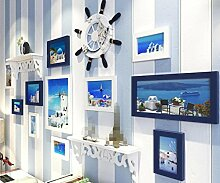 GL&G Die mediterrane Dekoration Foto Wand Living Zimmer Schlafzimmer Rahmen Frame Kombination Wand Dekoration Hintergrund Wand Home Dekoration