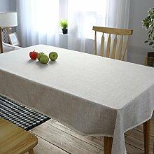 GL&G Einfache American Village reine Farbe Tischdecke, Mehrzweck-, staubdichte Tischdecke, Couchtisch, Schreibtisch, Tisch praktische Verschleiß-resistent Abdeckung Tuch,A,130*180cm