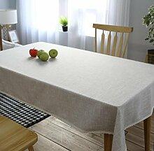 GL&G Einfache Literatur und Kunst Leinen Rechteck Tischdecke staubdicht / Antifouling Home Dekoration Tischdecke Mehrzweck decken Staub Tuch,90*150cm
